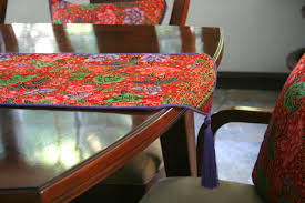 Indonesian Home Decor Indonesian Batik Decor Red With Lavender Table Runner 20 Inch