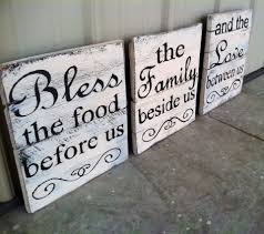 Decor Signs For The Home Bless The Food Before Us Sign Kitchen Pallet By Charmingwillows