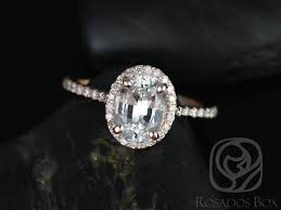 oval engagement ring with halo rosados box 8x6mm gold oval white sapphire and