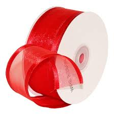 ribbon with wire buy premier packaging amzn 19323 satin edge ribbon with wire 1 1