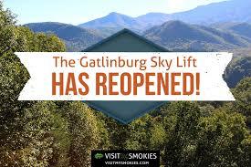 Chair Lift In Gatlinburg Tn Gatlinburg Sky Lift Reopens To The Public Visit My Smokies