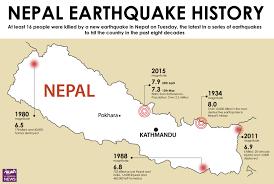 Map Of Nepal India by Nepal Struck By Second Major Earthquake Al Arabiya English
