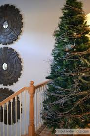 the easiest tree garland garlands holidays and tree