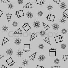 black and white christmas wrapping paper seamless vector background christmas wrapping paper stock