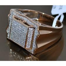 mens gold diamond rings diamond ring gold 0 58ct real diamonds wedding ring 10k