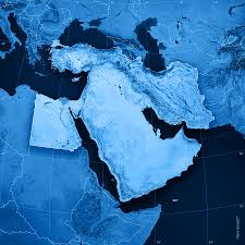 Middle East Map Middle East Topographic Map Digital Art By Frank Ramspott