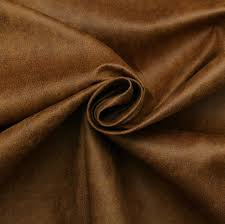 Upholstery Fabric Faux Leather Aged Brown Distressed Antiqued Suede Faux Leather Leatherette