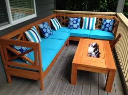 Design Wooden Outdoor Furniture by Diy Outdoor Sectional X Design Wood With Coffee Table Ice Tray