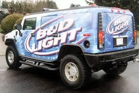 bud light truck driving jobs truck wraps seattle custom vinyl truck graphics wraps autotize