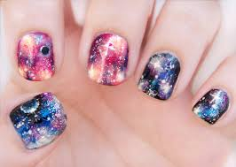 sophisticated galaxy art for lustrous nails nail art