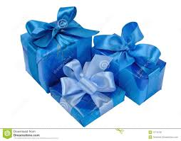 boxes with bows blue gift boxes with bows stock photo image 12719150