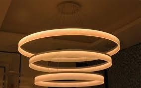 Lighting Fixture Manufacturers Usa Modern Led Large Ring Arcylic Circle Led Pendant Suspension Lights