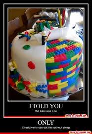 The Cake Is A Lie Meme - lego cake by pokefan117 on deviantart