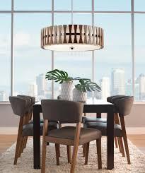 semi flush dining room light cirus 4 light pendant semi flush wood white fabric shade