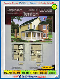 tenton rochester modular home models ts 4ra 4rb two story plan price