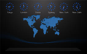 World Map Of Time Zones by Black Background World Map Time Zones Digital Art Clocks City