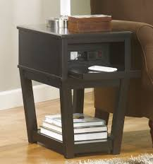 side table with power outlet electrical sockets and usp ports on small table end tables with