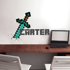 Minecraft Personalized Name Decal Minecraft Design Decals - Design wall decal