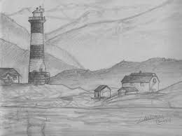 landscape pencil sketches simple beautiful pencil drawings of