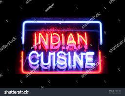 neon cuisine indian cuisine neon sign stock photo 66828463