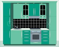 kitchen furniture kitchen furniture interior stock vector colourbox