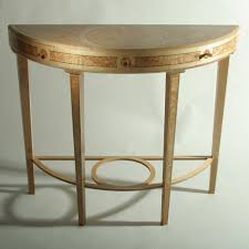 Home Hall Furniture Design Furniture George Iii Demilune Table Plus Wooden Floor And Rug For