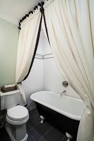 staggering white monogrammed shower curtain decorating ideas