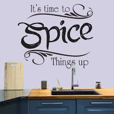 it s time to spice things up wall quote wall stickers kitchen it s time to spice things up wall quote wall stickers kitchen decor art decals