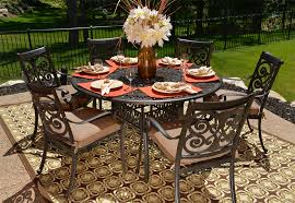 6 Chair Patio Dining Set Wonderful Round Outdoor Dining Table For 6 Round Table Patio