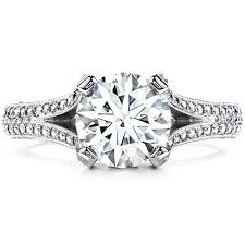 split band engagement rings wondrous split shank engagement ring