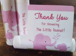 girl baby shower favors 12 elephant baby shower lip balms girl baby shower