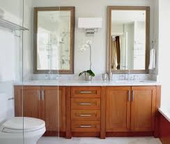 Powder Room Vanities Contemporary Small Double Vanity Powder Room Contemporary With Glass Mirror
