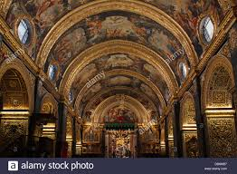 high baroque architecture style decorations at the nave of the