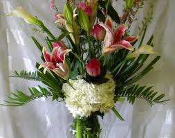 flower delivery houston vase beautiful bounty stargazer vase bouquet delivery houston
