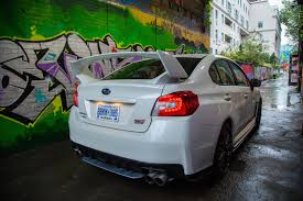 subaru hatchback wing review 2016 subaru wrx sti sport package canadian auto review