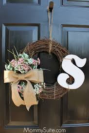 diy monogram wreath suite