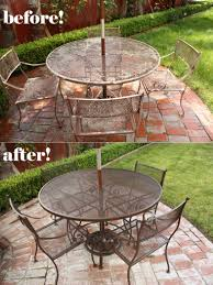 How To Clean Wrought Iron Patio Furniture by Spray Paint Patio Furniture Our Vintage Wrought Iron Patio Set For