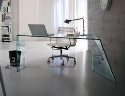 Glass Desk Office Nella Vetrina Tonelli Penrose Contemporary Italian Designer Glass Desk