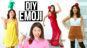 5 diy halloween costumes ideas for girls emoji ideas youtube