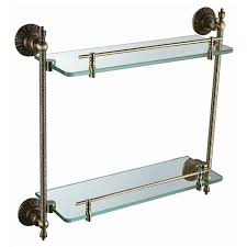 Bronze Bathroom Shelves Free Shipping Brass Glass Shelf Bathroom Shelf Shelves Antique