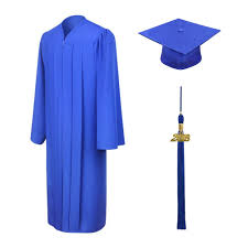 cap and gowns for graduation matte royal blue graduation cap gown and tassel junior high