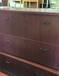 Mahogany Filing Cabinet Mahogany Filing Cabinet 4 Drawer Used Steelcase Traditional 76