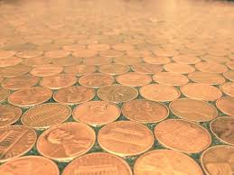 diy a penny saved makes for a unique flooring project