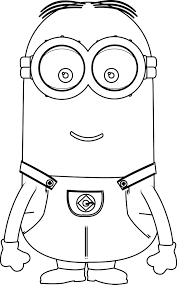 minions kevin perfect coloring page wecoloringpage u2026 pinteres u2026