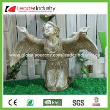 Statue For Garden Decor China Decorative Polyresin Angel Sculptures Wall Decor For Home