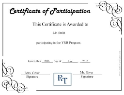 sample certificate of participation template 49 free printable