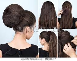 Hairstyle Process Weaving Braid Hairstyle Long Hair Stock Photo 514870810