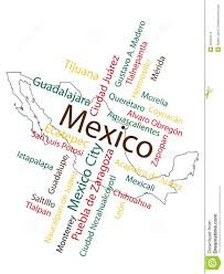 Merida Mexico Map by Mexico Map And Cities Stock Images Image 22525514