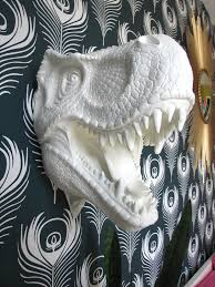 White Elephant Head Wall Mount Faux Taxidermy Toby The T Rex This Would Be So Cute In A Little