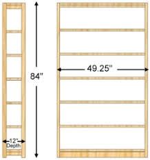 84 Inch Bookcase 12 X 84 X 48a Bookcase